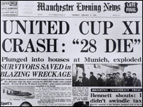 Front page of Manchester Evening News on night of disaster (MEN Syndication)