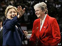 Clinton en San Diego, California, el 1 de febrero