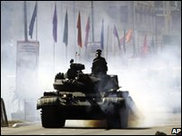 Tank rehearsing for independence parade - photo 2 February