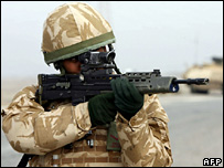 An armed soldier
