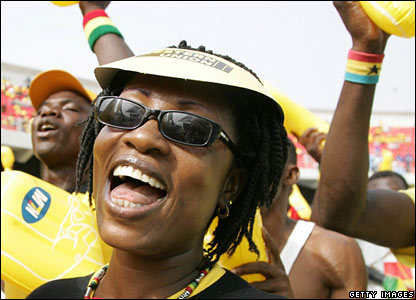 A Ghana fans before the game against Nigeria