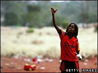 File image of an aboriginal child in Australia