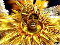 Member of Rio samba school dancing 4/2/08