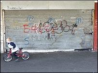 Graffiti on a housing estate