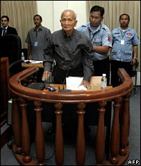 Nuon Chea in court on 4 February 2007