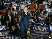 Hillary Clinton speaks at a rally in San Jose, California (01/02/2008)