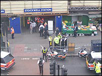 Stockwell station after Jean Charles De Menezes was shot there