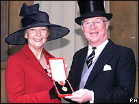 Tory MP Sir Nicholas Winterton with his wife Ann, outside Buckingham Palace