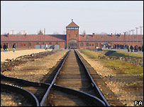 Railway tracks at Auschwitz