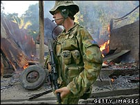 An Australian soldier in East Timor (file photo)