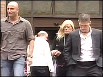 Mark Forbes, Zoe Forbes and Steven Forbes after a previous court hearing