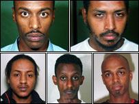 Top row (l-r): Ismail Abdurahman, Wahbi Mohammed. Bottom row (l-r): Muhedin Ali, Siraj Ali, Abdul Sherif