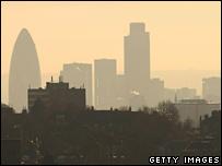 Smog over London on 4 February 2007