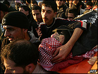 Funerales de uno de los líderes del Comité de Resistencia Popular, abatido por fuerzas israelíes en Beit Lahia