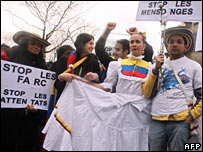 Anti-Farc protest in Paris 04/02/08