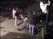 CCTV footage of the attack in Allington