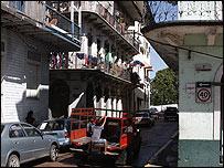 Calle del casco antiguo de Panamá