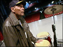 Tata Guines playing the drums in Havana in December 2007