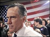 Mitt Romney haciendo campaña en Atlanta, Georgia