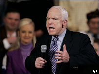 John McCain campaigns in Boston, Massachusetts, 4 Feb 2008