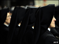 Roman Catholic nuns at the Vatican (2 February 2008)