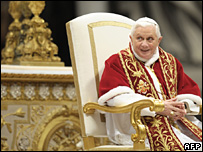 Pope Benedict at the Vatican (2 February 2008)