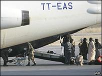 Evacuaci�n en Chad