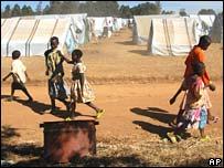 Displaced camp near Eldoret in western Kenya