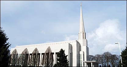 Mormon temple at Chorley