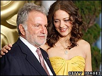 Sid Ganis with actress Marion Cotillard at a luncheon on Monday