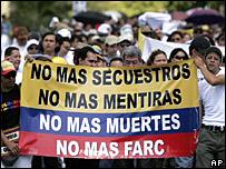 Marcha en Colombia