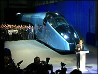 President Sarkozy unveils the new high-speed train in La Rochelle