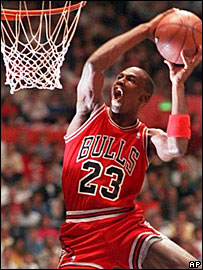 Basketball legend Michael Jordan
