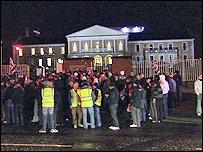 Orangemen protested outside Banbridge District Council