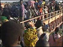 Chadian refugees (Screen grab)