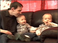 Danny Johnson-Green with his sons