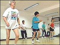 Haciendo ejercicio