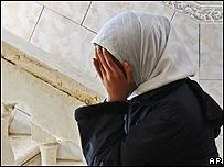Familiar de uno de los palestinos muertos en un ataque de Israel