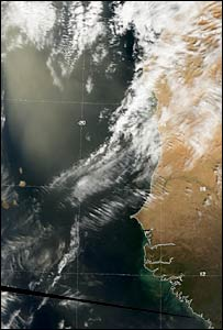 Satellite image of dust storm (Neodass)