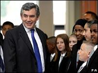 Gordon Brown opening Bristol's Brunel Academy
