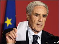 Italian Senate Speaker Franco Marini on 4 Feb 08