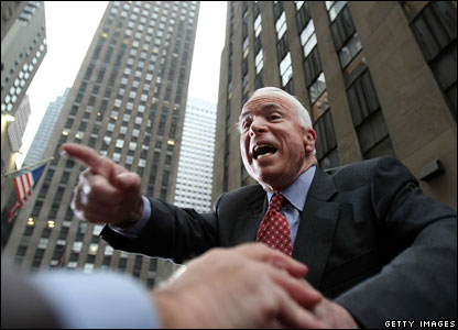John McCain at the Rockefeller Center in New York