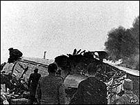 Restos del avión siniestrado en Munich-Reim