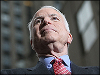 Republican John McCain's camp is said to be buoyant