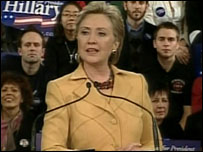 Hillary Clinton at New York rally
