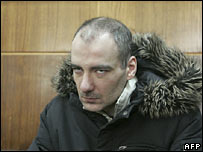 Vasily Aleksanyan in Moscow's courtroom on 5 February 2008