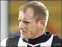 St Mirren forward Alex Burke