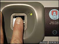 Fingerprint being taken