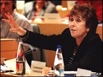 Former EU Education Commissioner Edith Cresson