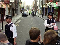 At the Admiral Duncan bombing in 1999